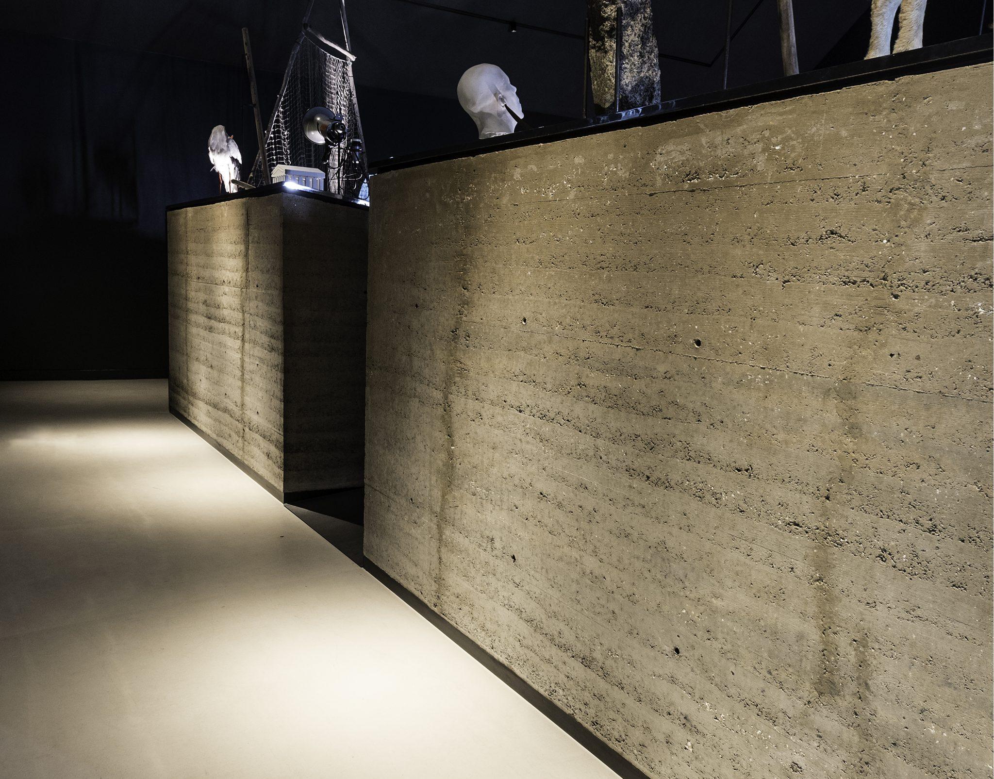 Rammed Earth Wall | Wadden Sea Center